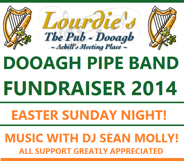 Dooagh Pipe band fundraiser 2014
